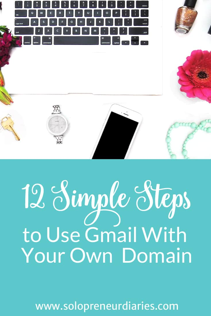 Want to use Gmail with your own domain name? Click through and follow these 12 (mostly) simple steps and you will be up and running in no time.