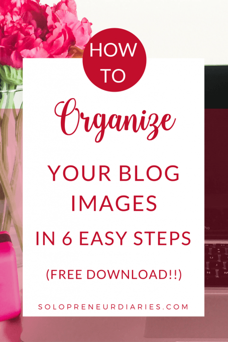 Bloggers today use a lot of images in their posts. Here are 6 simple tips to help you organize your blog photos (plus a free printable!)