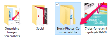 Step 2: Set up a folder called Stock Photos-Commercial Use