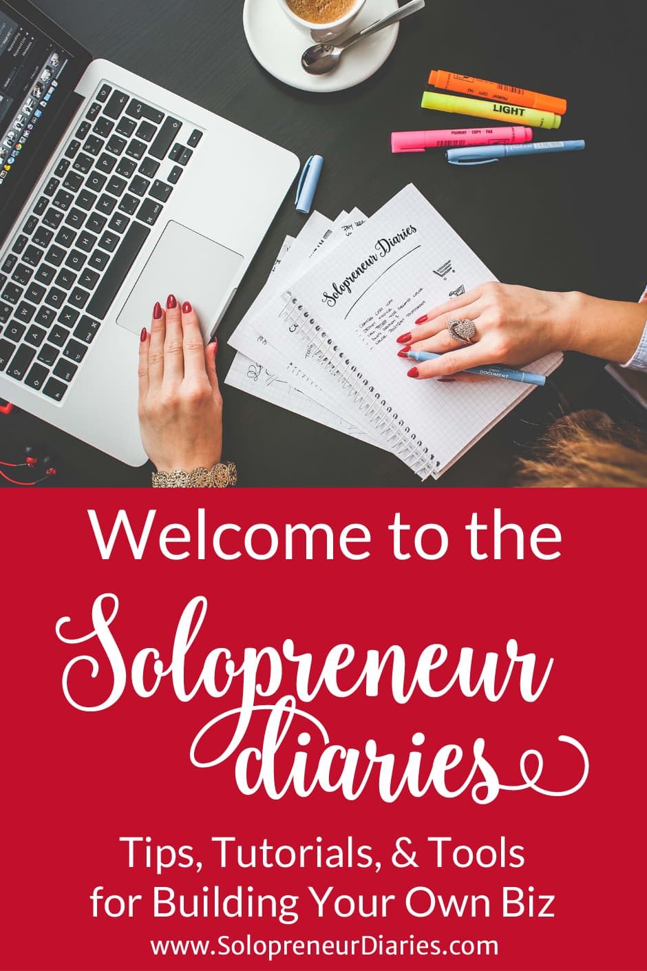 Solopreneur Diaries is for women who are trying to find work/life balance in order to live their dream lives. Women who want to build a business for themselves, rather than for someone else. Women who want to thrive and succeed on their own terms, in business and in life. From the big picture to the day-to-day details, we will provide tips, tutorials, and tools to help you grow your own business. Click through for more. . .