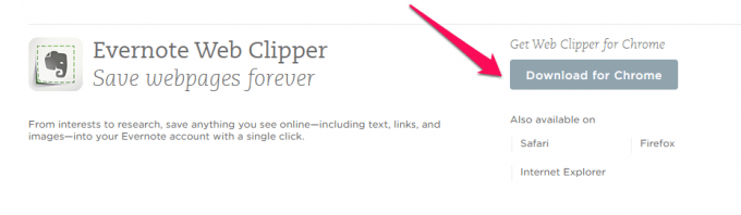 Get the Evernote Web Clipper