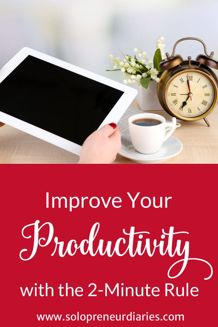 Are you procrastinating small tasks? Is your brain-space taken up with little things that need to be done? Are you drowning in email? Use the 2-minute rule to improve your productivity and get things done. Click through to see how.