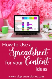 The first step in writing awesome content is to make sure that you have a never-ending well of great ideas. I recommend keeping those ideas in a spreadsheet. Spreadsheets are simple, flexible, and you can get as crazy as you like with color-coding. In this post, I'll guide you through how I set up my Content Idea spreadsheet, how I map the spreadsheet to an editorial calendar, and how I use the spreadsheet to ensure there is variety in my posting schedule. Click through to see how.