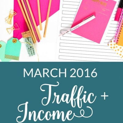 March 2016 Traffic and Income Report