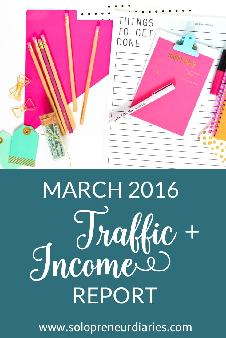 Follow Solopreneur Diaries income and traffic reporting from the very beginning. Click through to see what a real first monthly blog income + traffic report looks like.