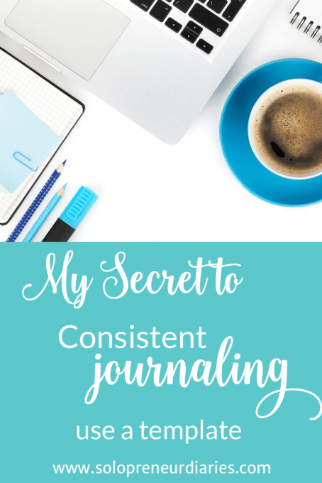 If you have always wanted to keep a journal, but haven't been able to make consistent journaling a habit, I encourage you to try using a template.