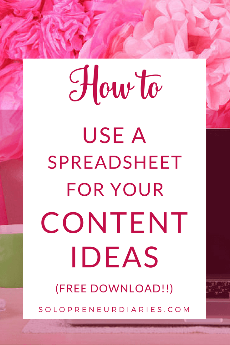 Spreadsheets are a fantastic organization tool that can be used for content planning. Learn how to set up a Content Idea spreadsheet, map the spreadsheet to an editorial calendar, and use the spreadsheet to ensure there is variety in your content calendar. Click through to see how and download a sample spreadsheet!