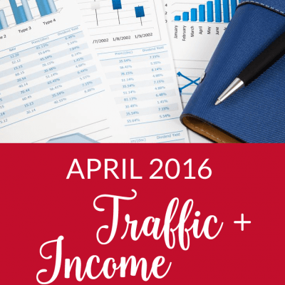 April 2016 Traffic and Income Report