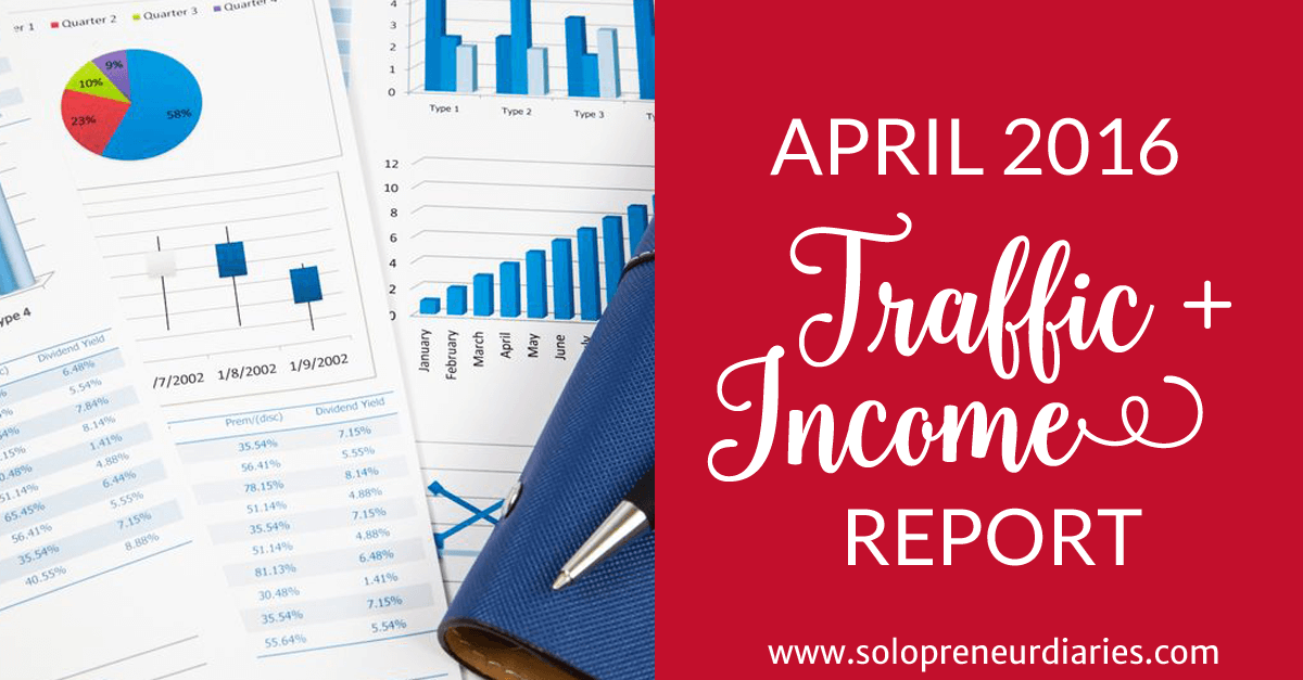 April 2016 Traffic + Income Report