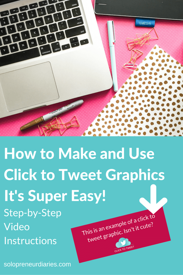Do you want to learn how to make and use cute click to tweet graphics? This video will give you step-by-step instructions. It's super-easy! Click through to watch.