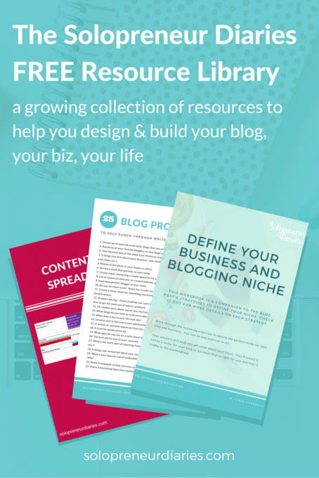 Introducing the free resource library, a growing collection of resources to help you boost your blog, build your biz, and design your life. Click through for access.