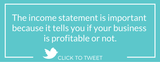 Income statements for small business