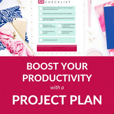 Boost your productivity with a project plan