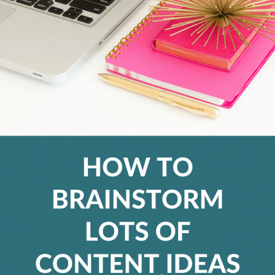 How To Brainstorm Lots of Content Ideas Quickly