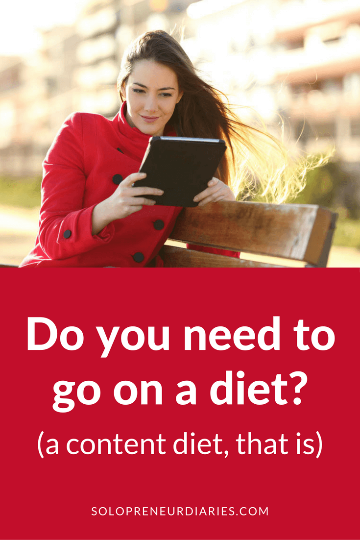 Do you consume too much content? If content consumption is getting in the way of your goals, then you need to go on a content diet. Click through to see how.