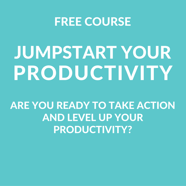 Jumpstart Your Productivity - Free Course