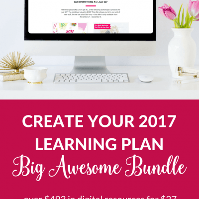 Create your 2017 Learning Plan with the Big Awesome Bundle