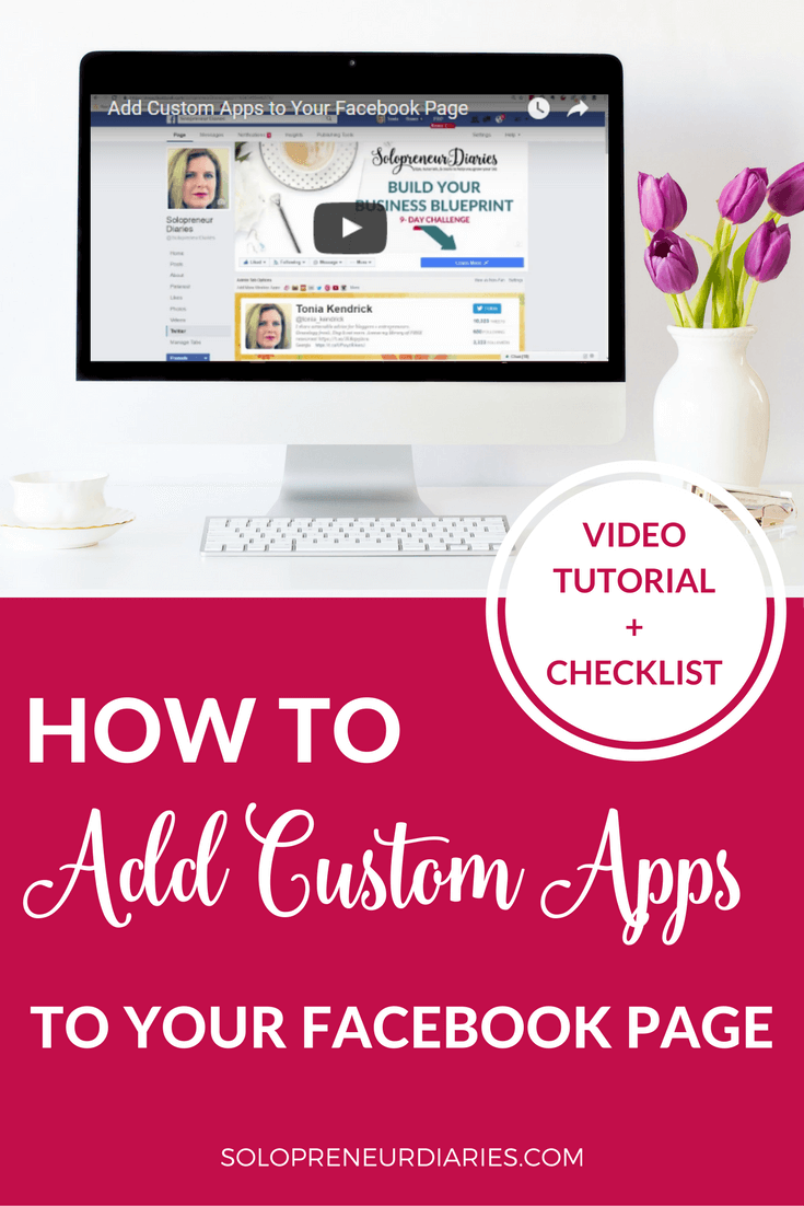 It is super-easy to add custom apps to your Facebook page to drive traffic to your other social media channels or to your website. Click through for a video tutorial + a free checklist!