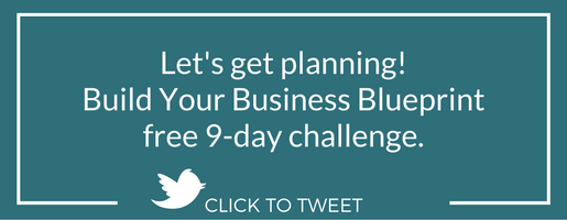 Let's get planning! Build Your Business Blueprint free 9-day challenge