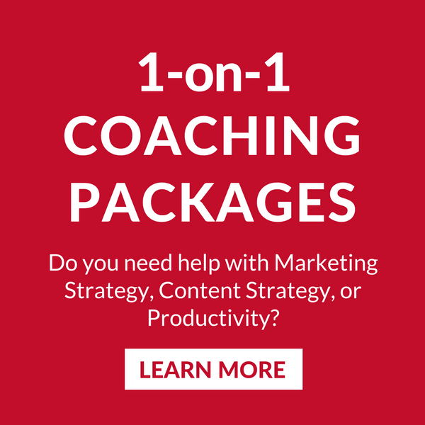 Do you need help with Marketing Strategy, Content Strategy, or Productivity? Learn more.