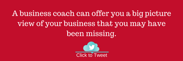 A business coach can offer you a big picture view of your business that you may have been missing.