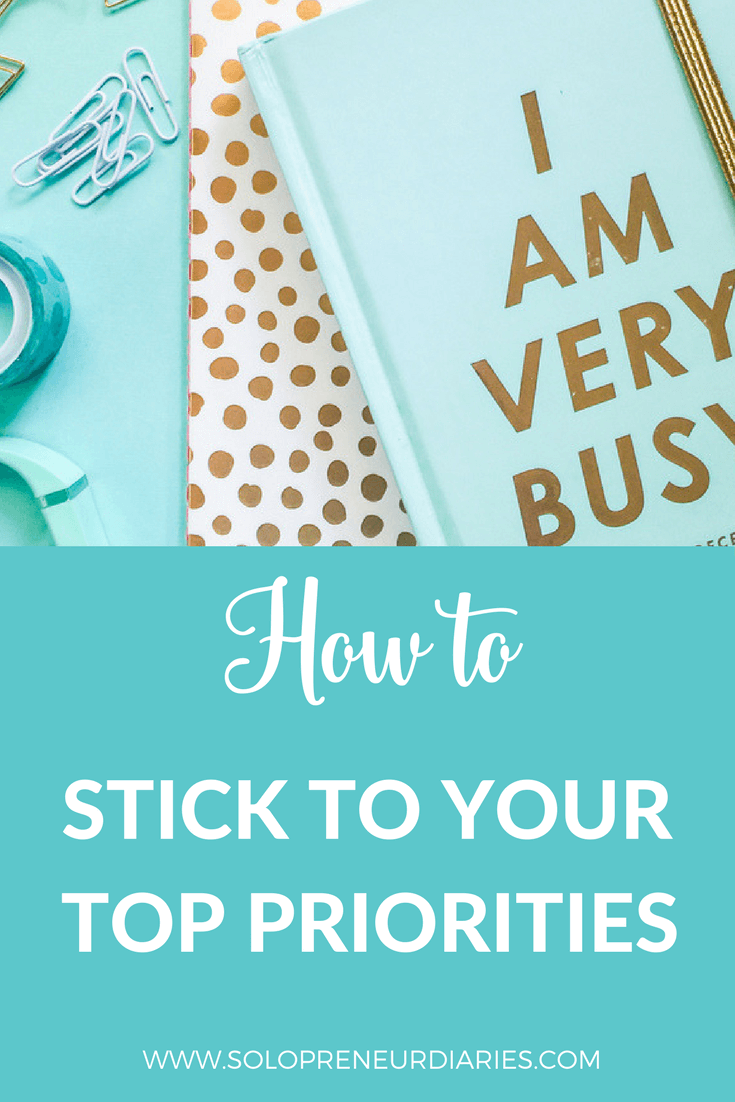 Being productive is about doing the right things. Click through for nine tips that will help you stick to your priorities.