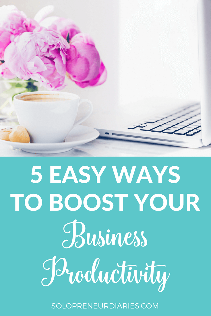 It takes time and dedication to grow a small business. Click through for five easy ways to boost your business productivity, so that you make every minute count.