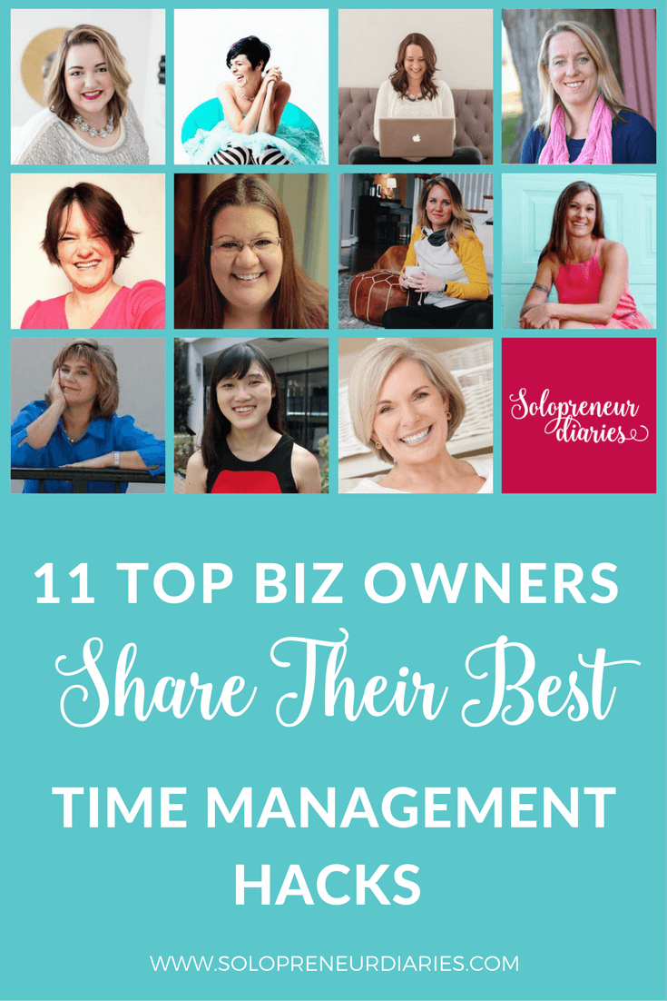 "Do you ever look at successful online biz owners and think ""how do they get all this done?"" Click through to check out the best time management hacks from 11 top biz owners."