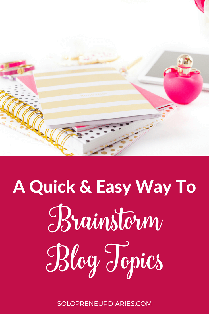 Tired of staring at a blank screen? Use this quick and easy way to brainstorm blog topics and generate and long list of content ideas.