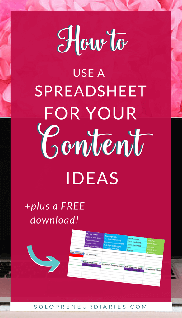 Spreadsheets are a super organization tool for planning content for your blog. Keep up with all your ideas, map them to an editorial calendar, and ensure there is variety in your content schedule. Click through to see how and download a template that can be used in Google Sheets or Excel!