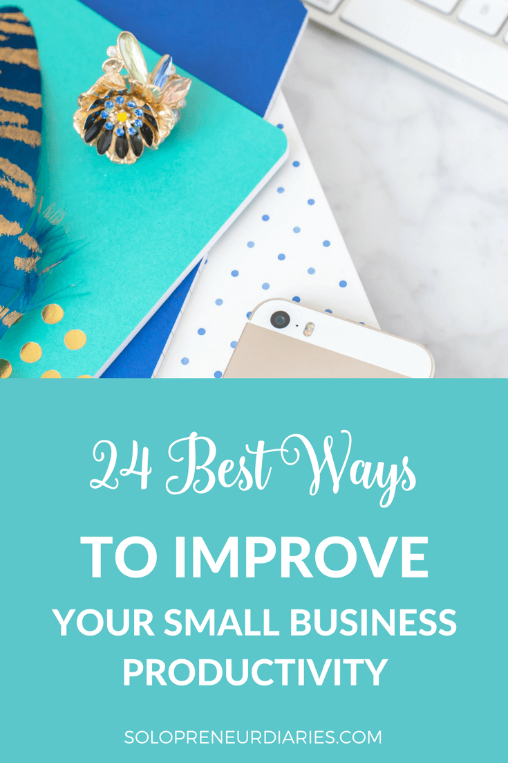 Are you an entrepreneur who needs to get more done in less time? Do you need ideas for how to stay focused? Here are 24 of my best small business productivity and time management tips.