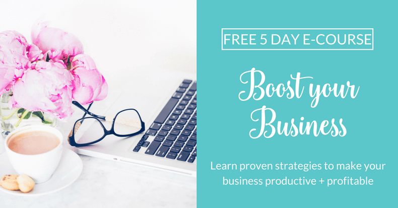 Boost Your Business: Free 5 Day E-Course. Learn proven step-by-step strategies to level up your business productivity & become more profitable. Get actionable ideas daily for 5 days. Sign up now!
