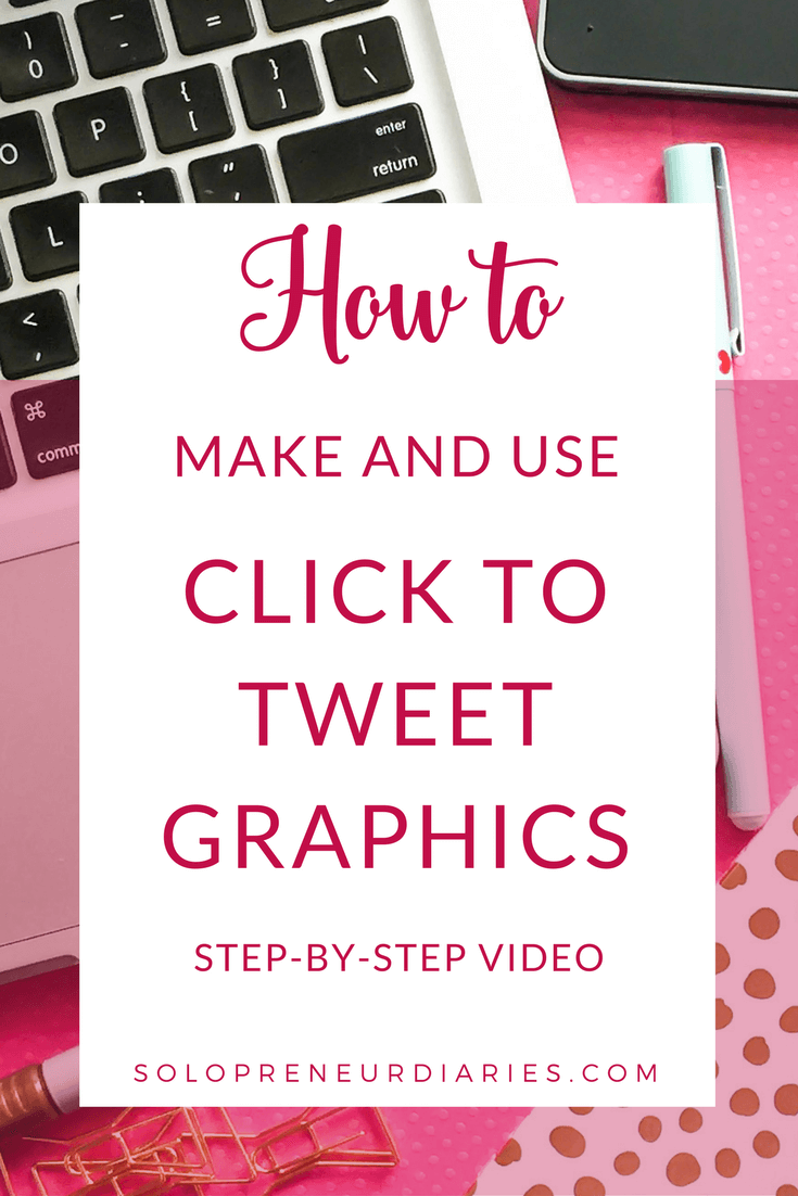 Click to Tweet makes it easy for readers to share your blog posts on Twitter. This video shows you how to create click to tweet graphics with Canva and add them to your blog posts.