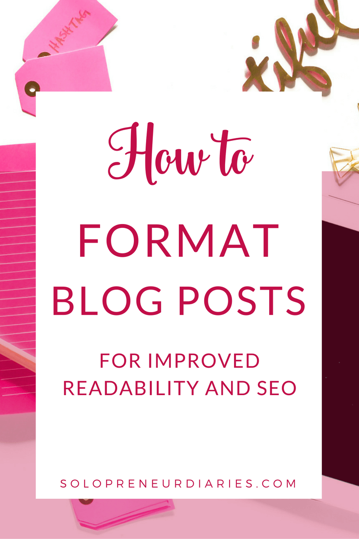 Writing for the web is different than writing for print. Here are some tips for how to format a blog post for readability and seo.