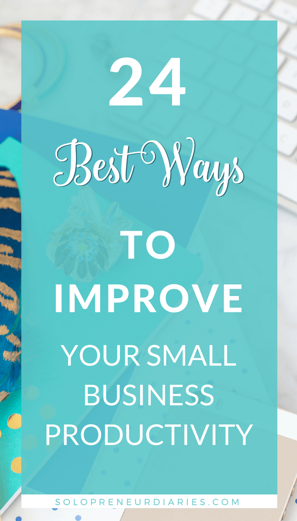 Are you a small business owner who needs to get more done in less time? Do you need ideas for how to stay focused? Click through fro 24 of my best productivity and time management tips for entrepreneurs.