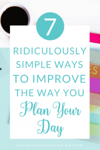 Is time management something you struggle with? Do you need help staying focused? Here are 7 ideas to help with planning your day, plus grab a free printable daily planner!