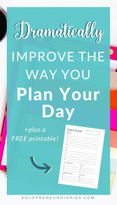 Do your days ever get away from you? Is time management something you struggle with? This post has 7 ideas for planning so that your day doesn't run away you. Plus grab a free printable daily planner!