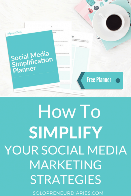 Your social media marketing strategy can get way over-complicated. Here are some tips and ideas to help small businesses and entrepreneurs keep it simple. Plus, grab a free printable social media simplification planner!