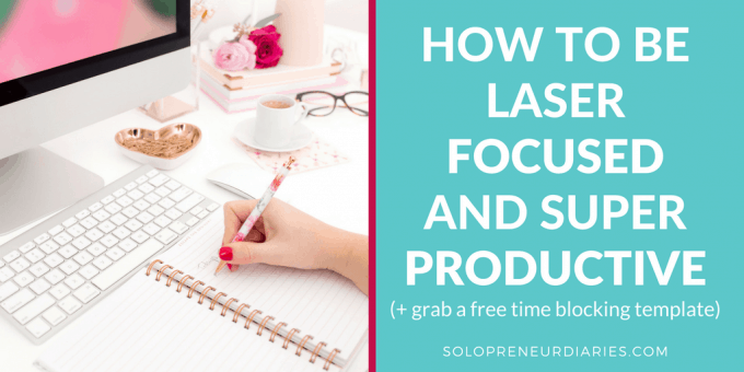 Learn how to plan your day with these time blocking tips. This productivity secret will make you laser focused on your business priorities. Plus grab a free time blocking template!