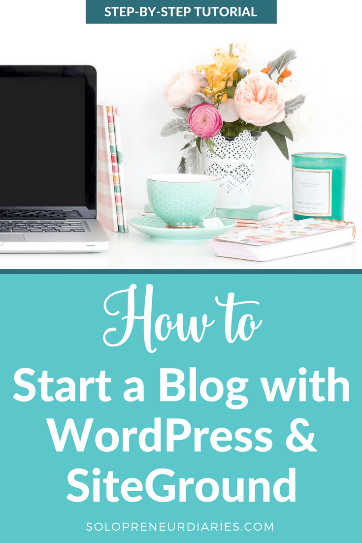 Ready to start a blog? In this post, I share a step-by-step tutorial on how to start a WordPress blog with SiteGround. Follow these simple instructions and you'll be blogging in no time! | Blogging for Beginners #blogging