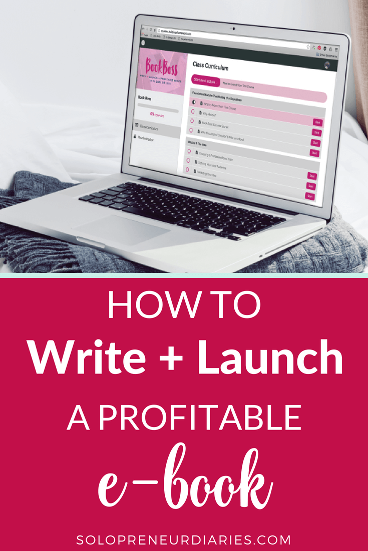 Are you looking for ways to monetize your blog? How about step-by-step instructions to write and launch a profitable e-book? Click through for details.