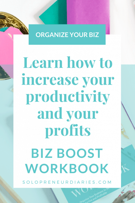 Are you a busy entrepreneur who wants to increase your productivity and your profits? Are you ready to work smarter in your business and make more money? My ebook, Biz Boost Workbook, can help you do that! | Small Business Organization #onlinebusiness #bloggingtips #entrepreneur