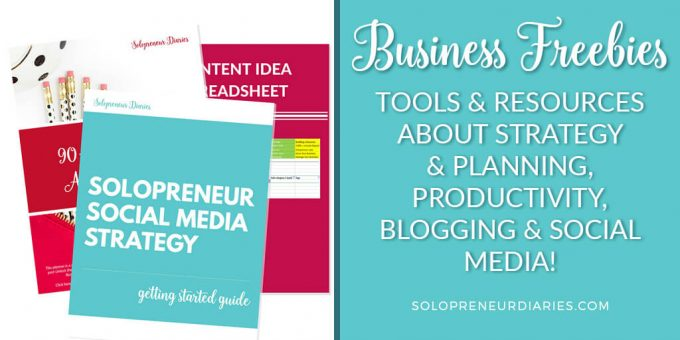 Free resources to help you grow + organize your solopreneur biz!