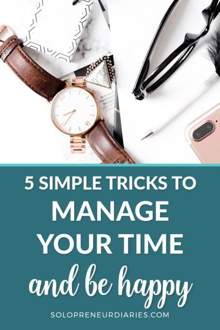 Time is your most valuable asset when you are running a business. Here are five simple productivity tips that will show you how to focus and manage your time. Learn how to be more productive in your business hours so that you can be more relaxed and happy and enjoy your life.