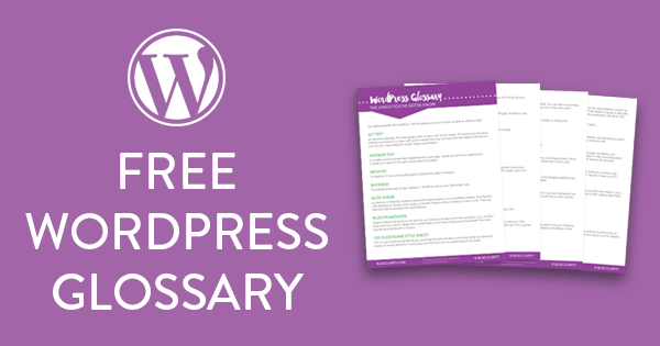 Free WordPress Glossary