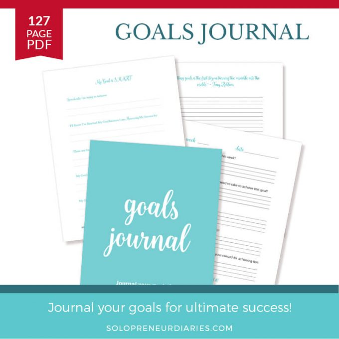 Are you an entrepreneur having trouble with achieving your small business goals? Journal your goals for ultimate success with this printable Goals Journal!