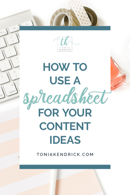 How to use a content idea spreadsheet to stay organized - featured pin