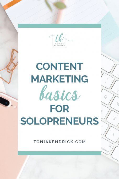 Content Marketing Basics for Solopreneurs - featured pin