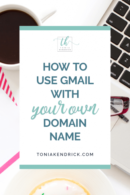 How to use Gmail with your own domain name - featured pin