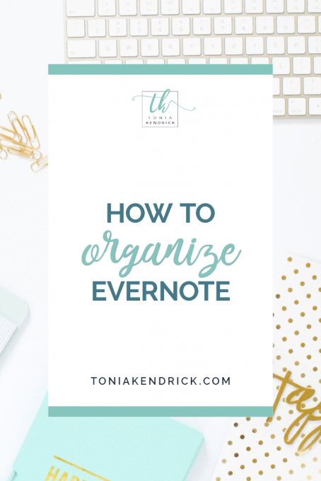 How to Organize Evernote - featured pin